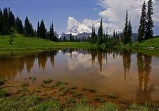 Lago mais chuvoso & superior da montagem Tipsoo Fotografia de Stock Royalty Free