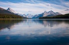 Lago Maligne foto de archivo