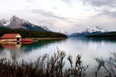 Lago Maligne Immagini Stock Libere da Diritti