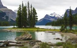 Lago Maligne immagini stock