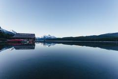 Lago Maligne Fotografia de Stock