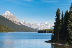 Lago Maligne Imagenes de archivo