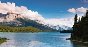 Lago Maligne, jaspe Imagem de Stock