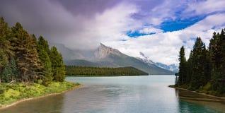 Lago Maligne, jaspe Foto de Stock Royalty Free