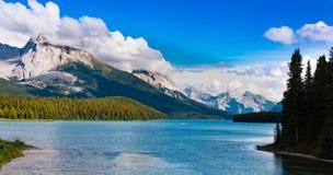 Lago Maligne, jaspe Imagens de Stock