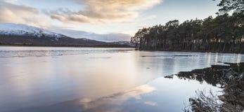 Lago Mallachie en Escocia Fotografía de archivo libre de regalías