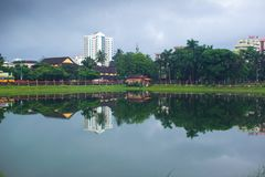 Lago Manannchira - en Kerala Fotografía de archivo libre de regalías