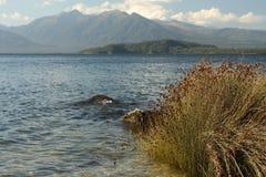 Lago Manapouri nel parco nazionale di Fiordland Fotografia Stock Libera da Diritti