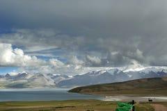 Lago Manasarovar Immagine Stock