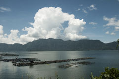 Lago Manianjau Fotografia Stock