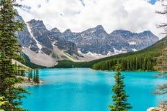 Lago maravilhoso moraine Fotografia de Stock