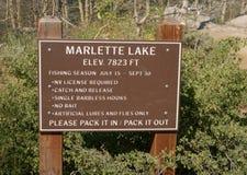 Lago Marlette en el lago Tahoe foto de archivo libre de regalías