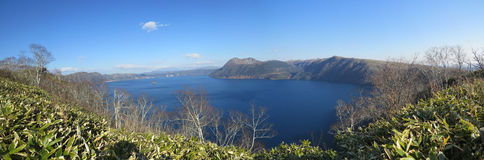 Lago Mashu, Hokkaido, Japão imagens de stock