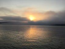 Lago Massabesic, salida del sol del verano en New Hampshire imagen de archivo libre de regalías