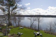 Lago Massawippi nos distritos orientais de Quebeque Fotos de Stock Royalty Free