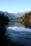 Lago Matheson immagini stock libere da diritti