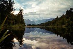 Lago Matheson Fotografia Stock Libera da Diritti