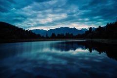 Lago Matheson Fotografia Stock