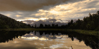 Lago Matheson Fotos de Stock Royalty Free