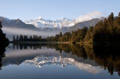 Lago Matheson Fotografie Stock Libere da Diritti