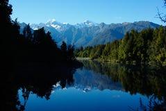 Lago Matheson fotografía de archivo libre de regalías