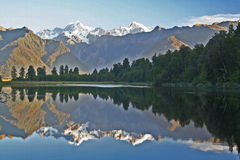 Lago Matheson Foto de Stock Royalty Free