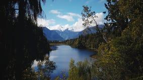 Lago Matheson, cuoco del supporto, isola del sud, Nuova Zelanda Fotografie Stock