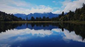 Lago Matheson, cuoco di Mt, isola del sud, Nuova Zelanda Fotografia Stock Libera da Diritti