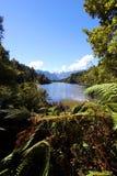 Lago Matheson Mt Cook Fotografia Stock Libera da Diritti