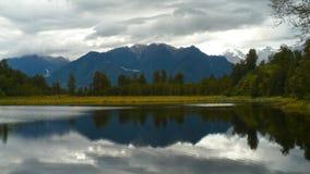 Lago Matheson New Zealand Panoramic imagens de stock