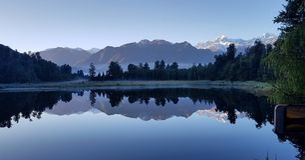 Lago Matheson, NZ imagem de stock royalty free