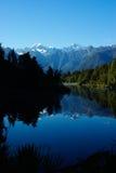 Lago Matheson (ritratto) immagine stock
