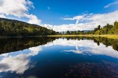 Lago Matheson vicino all'isola del sud Nuova Zelanda del ghiacciaio di Fox Fotografia Stock