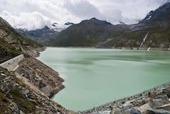 Lago Mattmark foto de stock