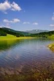Lago Mavrovo Immagini Stock