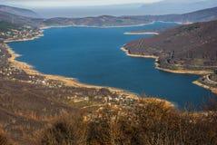 Lago Mavrovo Immagine Stock Libera da Diritti