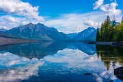 Lago McDonald, parque nacional de geleira, Montana, EUA Foto de Stock Royalty Free