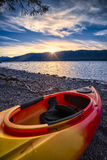 Lago McDonald su Serene Late Afternoon Fotografia Stock