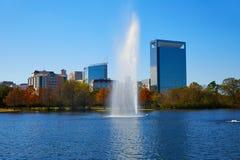 Lago Mcgovern do parque de Houston Hermann fotos de stock royalty free