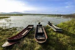 Lago meadow del barco Fotografía de archivo libre de regalías
