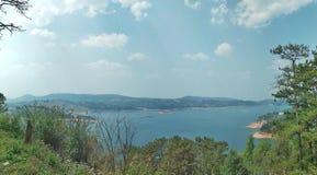 Lago Meghalaya Umiam Foto de Stock Royalty Free