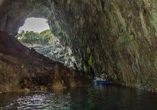 Lago Melisani, caverna Fotografia Stock