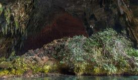 Lago Melisani, cueva Foto de archivo