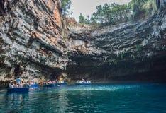 Lago Melisani, cueva Imagen de archivo libre de regalías