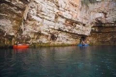 Lago Melisani Kefalonia, Grecia immagini stock