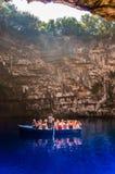 Lago Melisani na caverna de Melissani fotografia de stock royalty free
