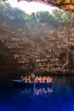 Lago Melisani nella caverna di Melissani Fotografie Stock Libere da Diritti