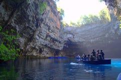 Lago Melissani imagem de stock royalty free