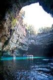 Lago Melissani, Kefalonia Immagini Stock