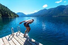 Lago a mezzaluna fotografie stock
